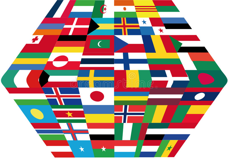 Flags. This image is a illustration and can be scaled to any size without loss of resolution. This image will download as a .eps file. You will need a editor to vector illustration