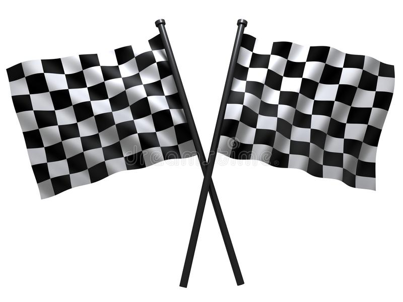 Flags. Flag of start or finesha, done in 3d