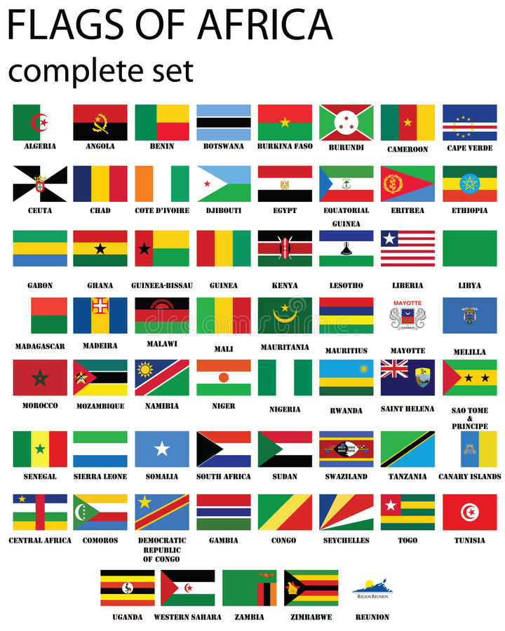 Flags of Africa stock illustration