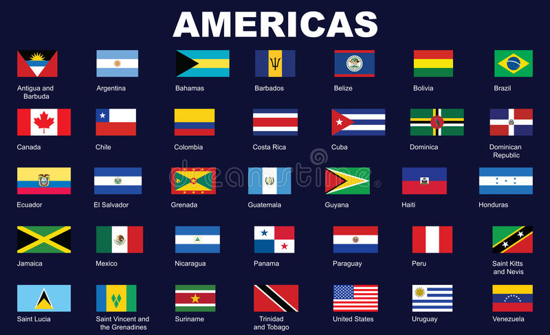 Download Flags of Americas stock vector. Illustration of america - 28555289
