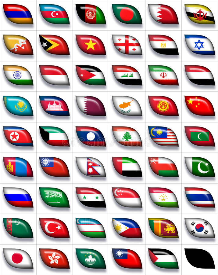 Download Flags Of Asia 2 Royalty Free Stock Images - Image: 8583239