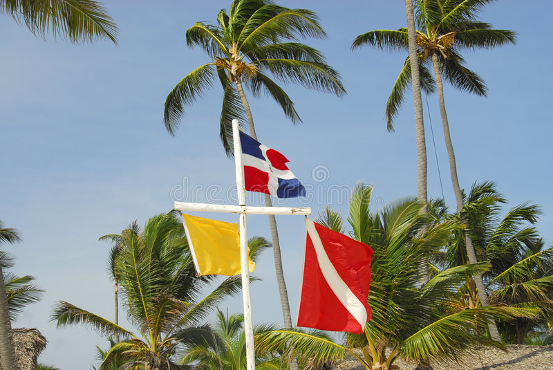 Download Flags On The Beach Royalty Free Stock Photos - Image: 6451458