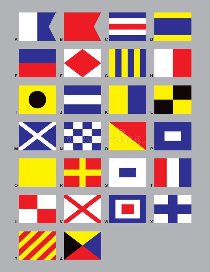 flags den maritima signaleringen vektor illustrationer