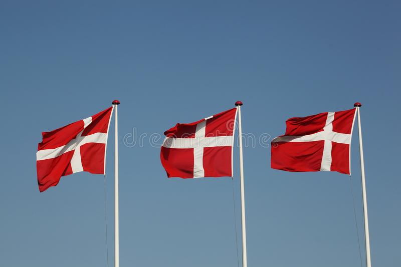 Flags of Denmark stock photos
