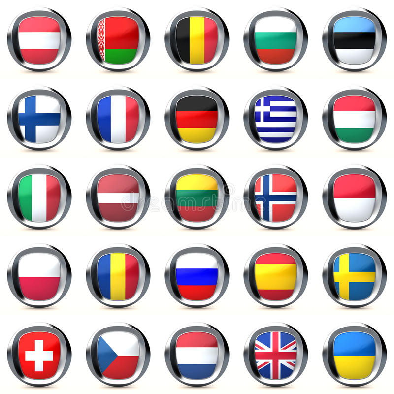 Download Flags Of European Countries Stock Illustration - Illustration: 16577908
