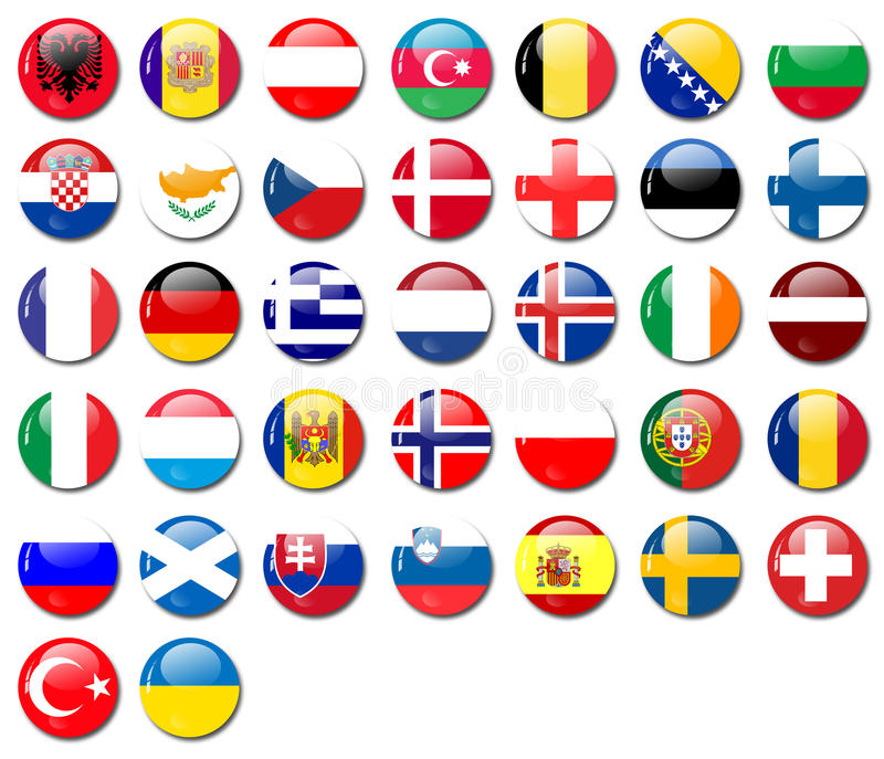 Flags stock illustration