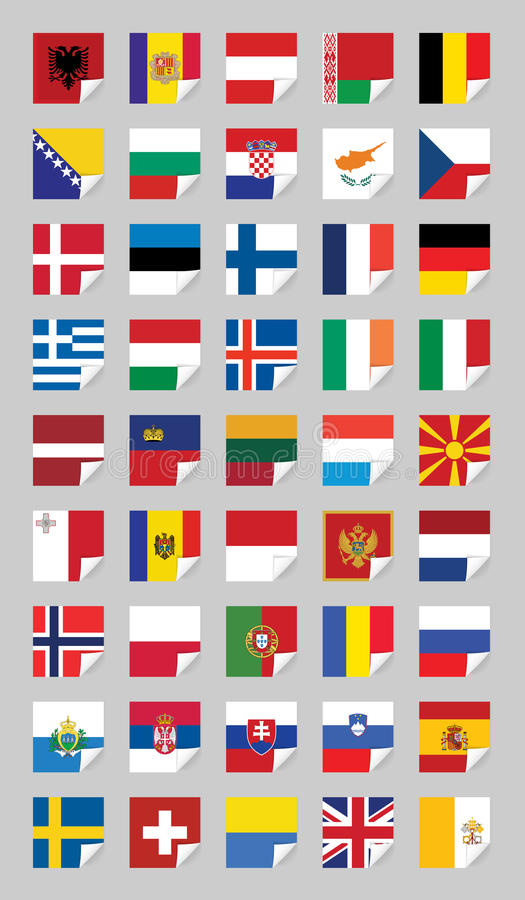 Download Flags of European States stock vector. Image of icon - 26332361