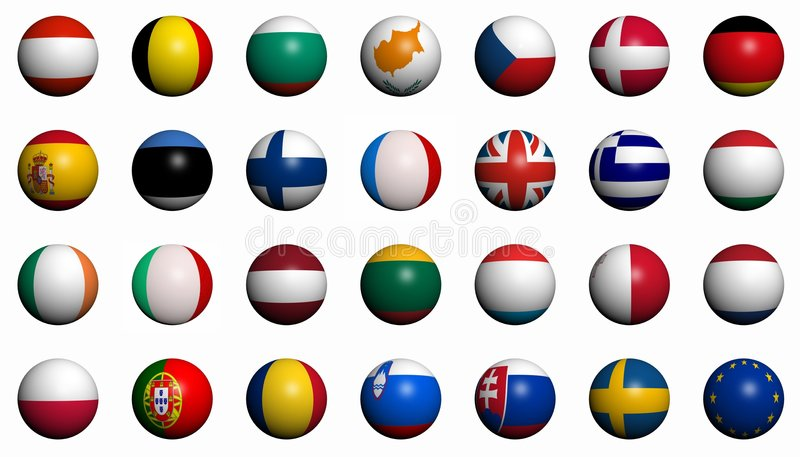 Download Flags Of The European Union Countries Stock Illustration - Image: 5823642