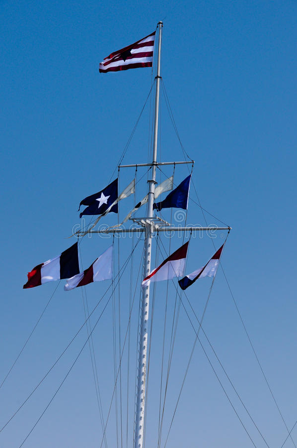 Download Flags flying stock image. Image of white, yardarm, navy - 15522141