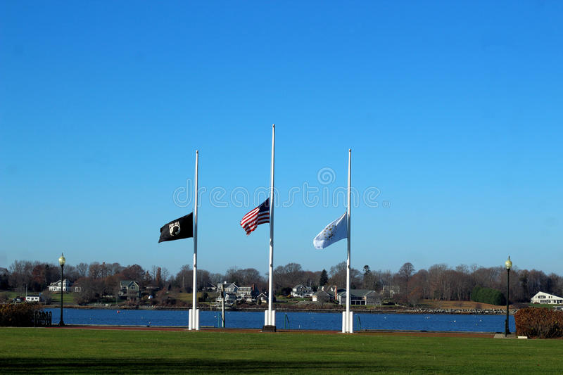 Rhode Island State Flags Flying