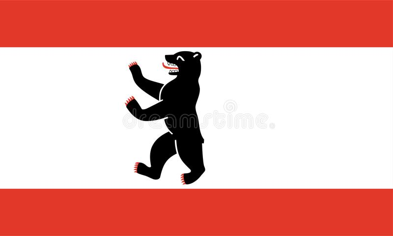 Flag of Berlin. Flags of the German regions vector format available Ai Berlin royalty free illustration