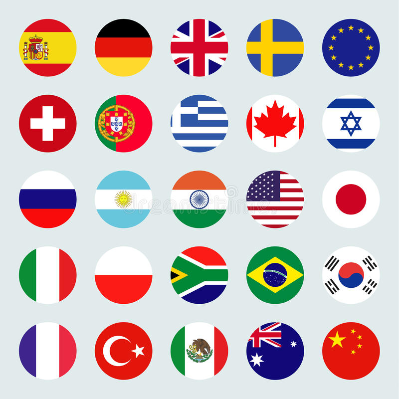Flags icons royalty free illustration