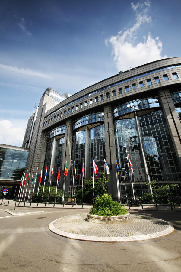 Free Flags In Front Of The EU Parliament - Brussels Stock Image - 14385211
