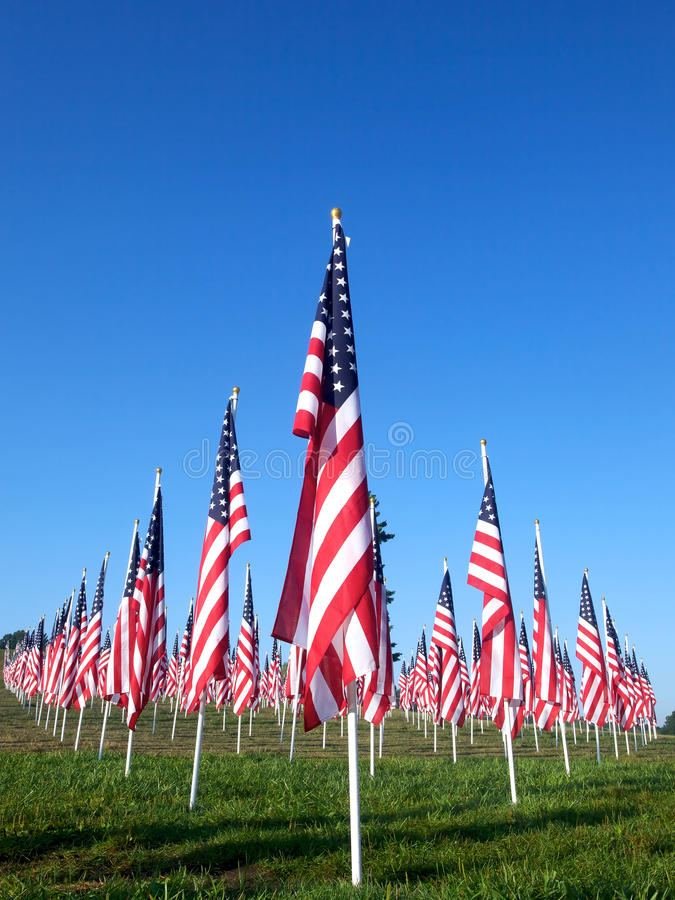 Free Flags In The Healing Fields For 9/11 Stock Images - 21189974