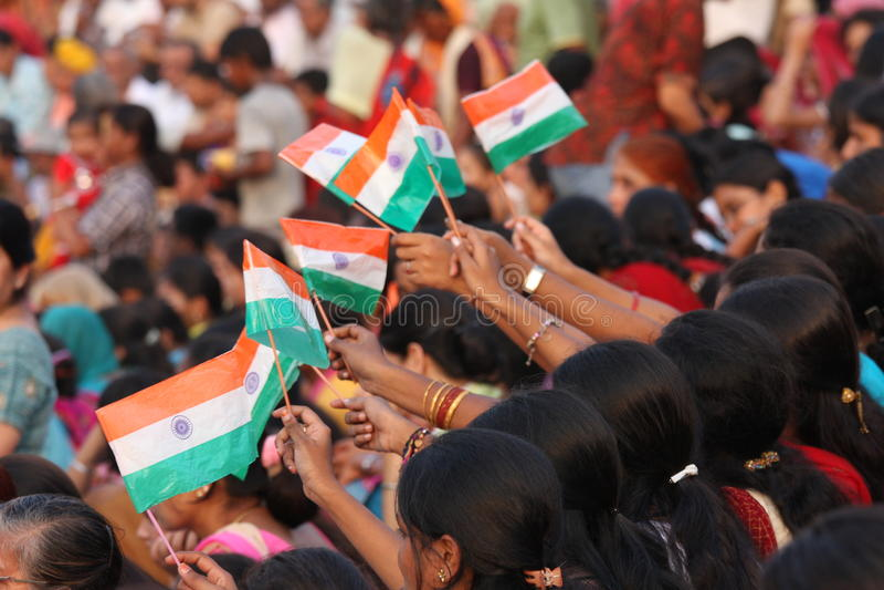 flags indier royaltyfri fotografi