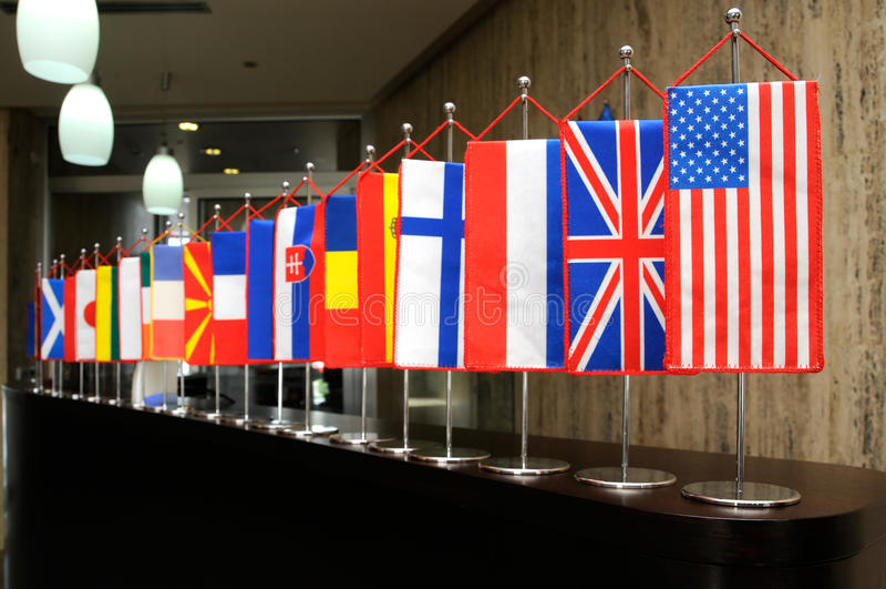 flags internationalen royaltyfri bild