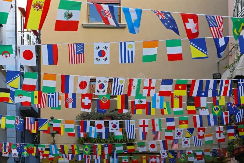 flags internationalen royaltyfri foto