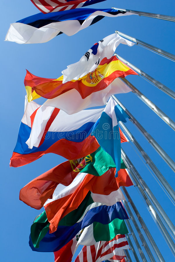 flags internationalen royaltyfria foton