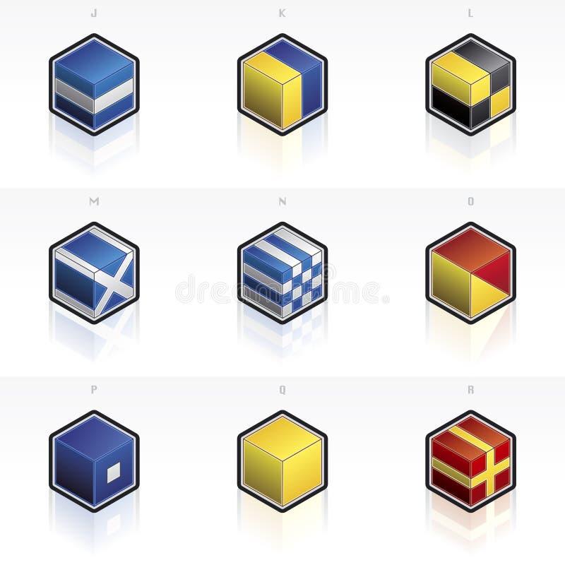 flags internationellt maritimt vektor illustrationer