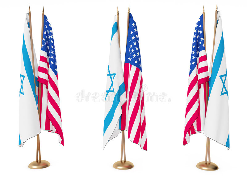 Download Flags Of Israel And The United State Stock Illustration - Image: 6881472