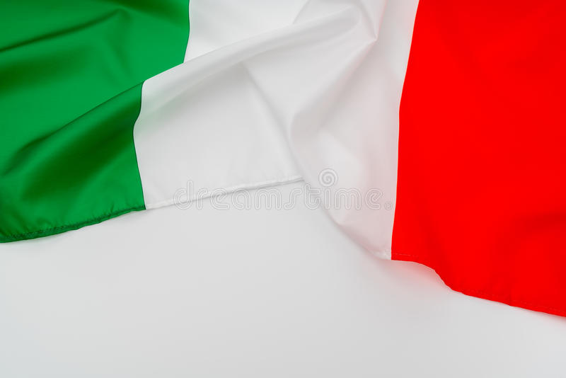 Flags of Italy . Flags of Italy stock photo