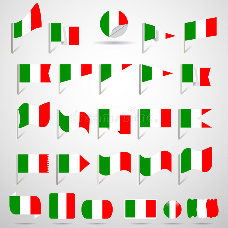 Flags of Italy. Vector illustration royalty free illustration