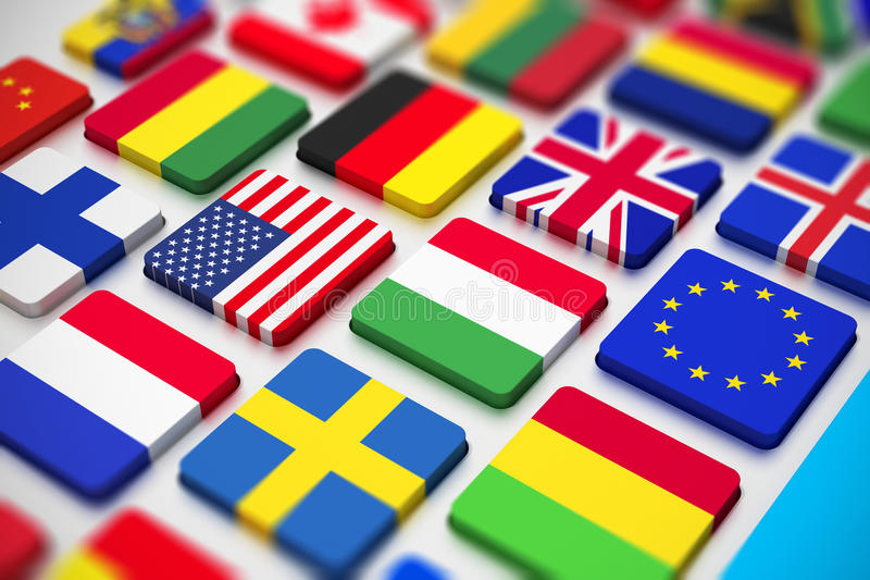 Flags Keyboard Royalty Free Stock Images