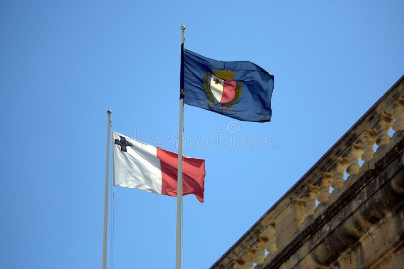 flags malta royaltyfri bild
