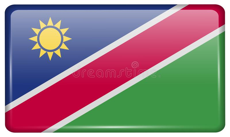 Set Namibia Flags, Banners, Banners, Symbols, Flat Icon