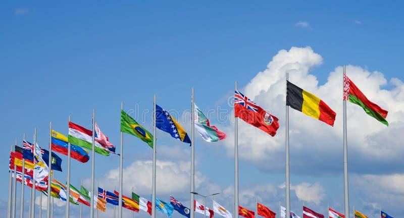 flags national royaltyfria bilder