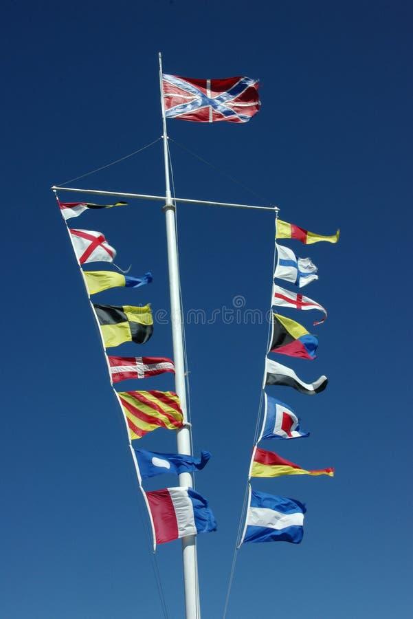 flags nautiskt royaltyfri foto
