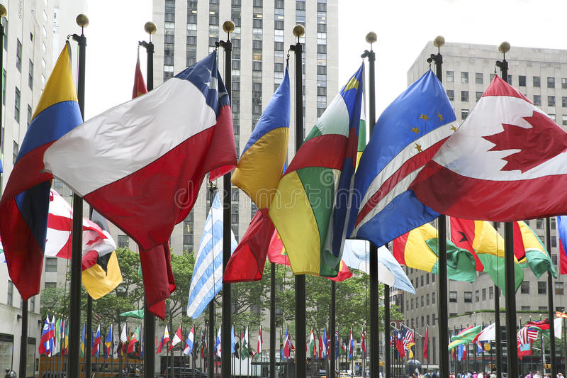 Download Flags in New York stock image. Image of flagpole, blow - 27871015