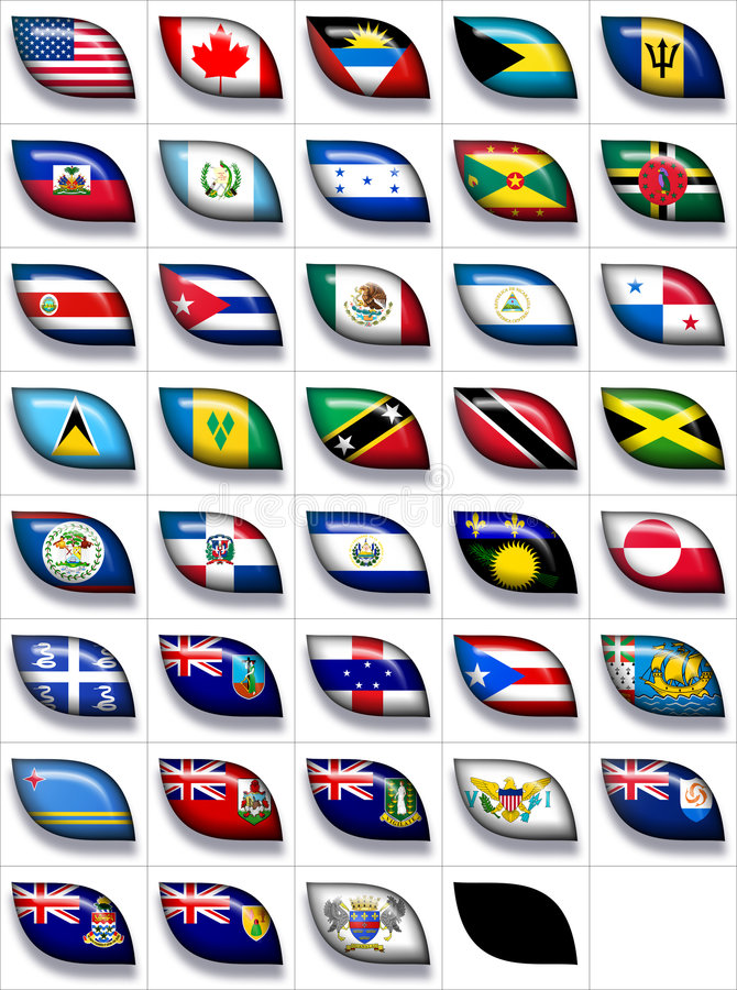 Download Flags of North America 2 stock illustration. Image of canada - 8566042