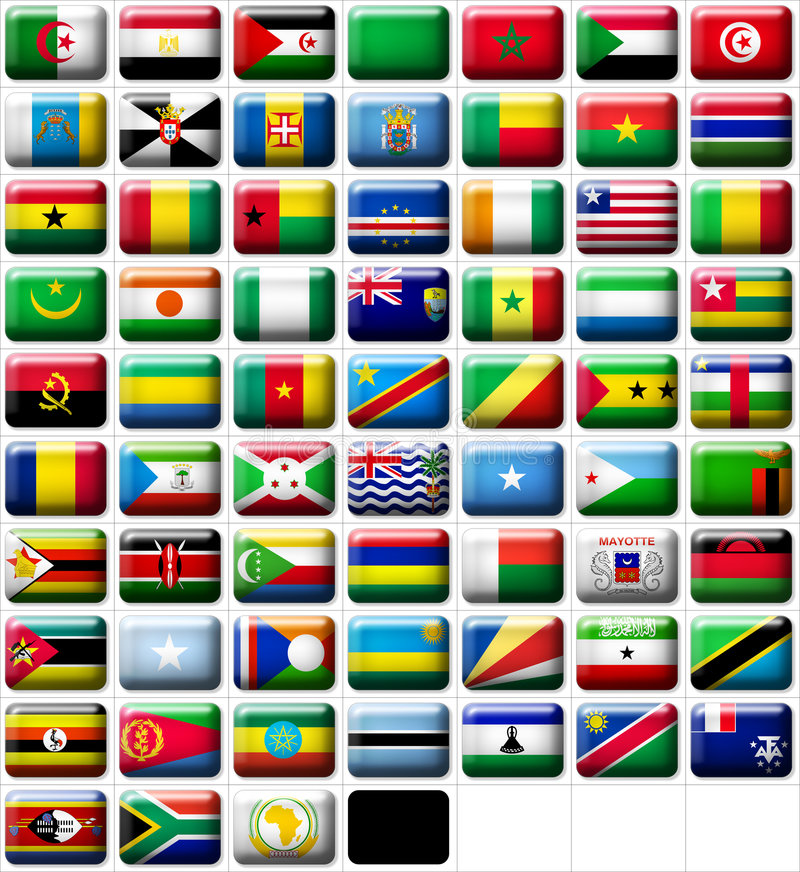 Free Flags Of Africa Stock Photos - 8080433