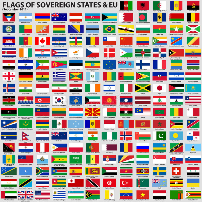Free Flags Of Sovereign States & EU Stock Images - 24835594