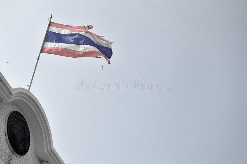 Flags. Old Thailand flags royalty free stock image