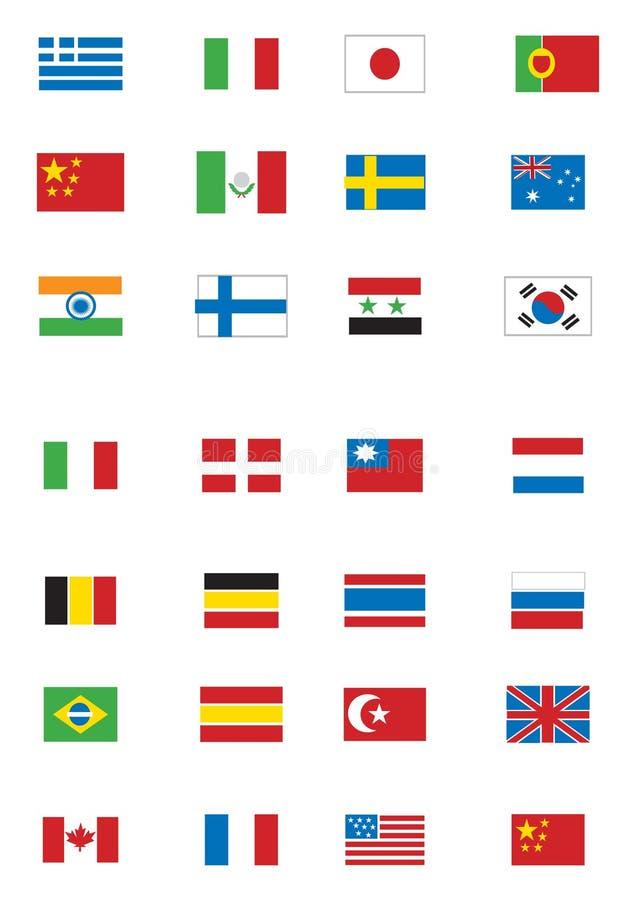 flags olikt vektor illustrationer