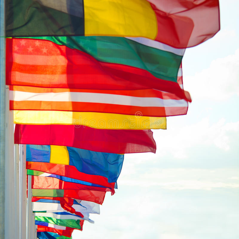 Flags royalty free stock photography