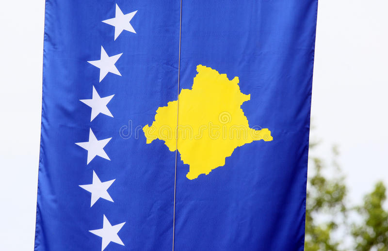 Flags of Republic of Kosovo stock image
