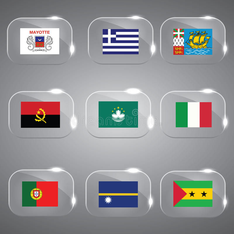Download Flags Set of the world stock vector. Illustration of icon - 33567161