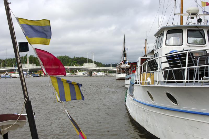 Flags and ships