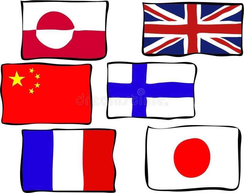 flags skraj stock illustrationer