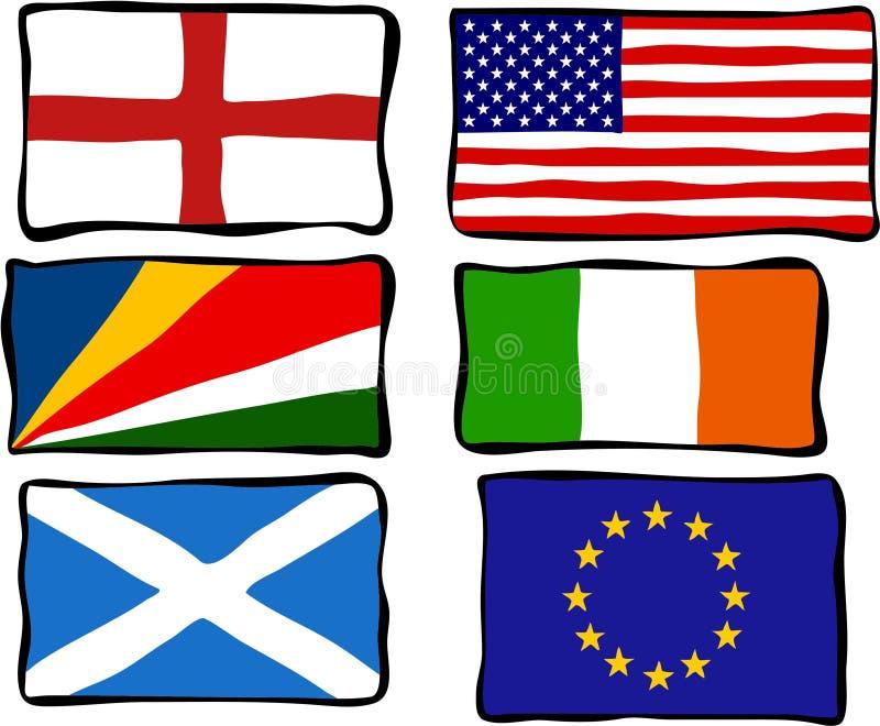 flags skraj royaltyfri illustrationer