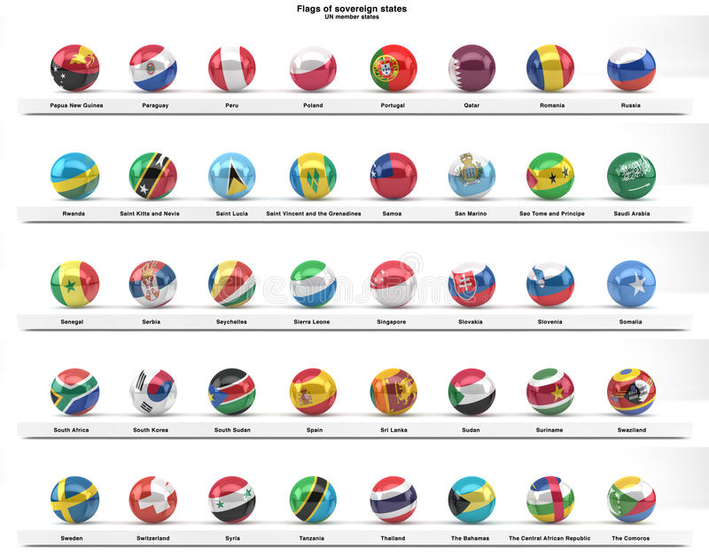 Download Flags Of Sovereign States (series) Stock Illustration - Image: 26553528