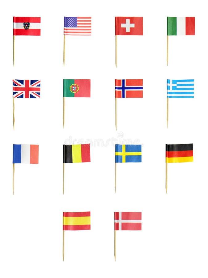 flags toothpick стоковые изображения