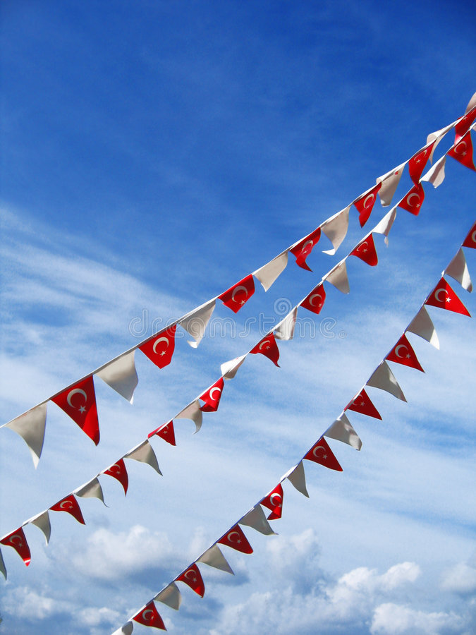 flags turkish стоковое изображение