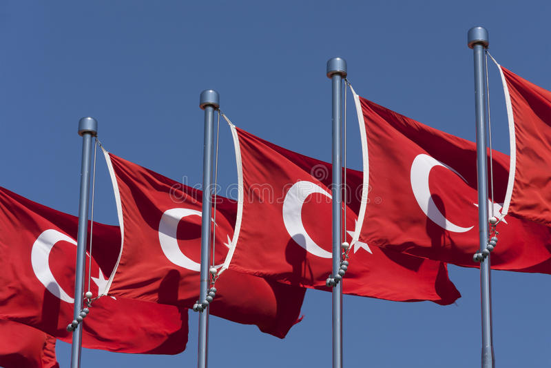 flags turkish стоковая фотография