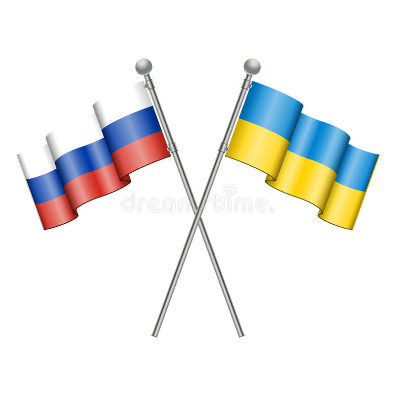 Download Flags Of Ukraine And Russia Royalty Free Stock Images - Image: 38515259