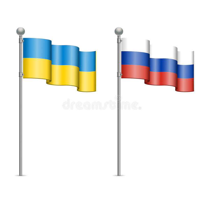 Download Flags Of Ukraine And Russia Stock Vector - Image: 38514226