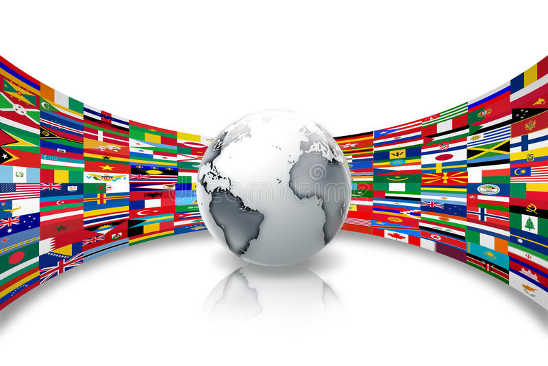 flags världen stock illustrationer